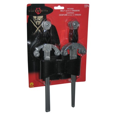 V For Vendetta Cosplay Rubie's Licensed Costume Belt w/ 6 Daggers](V For Vendetta Daggers)