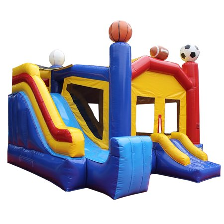 Inflatable Commercial Grade Bounce House Sports Castle 100% PVC With Blower