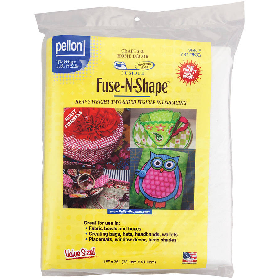 "Fuse-N-Shape Heavyweight Fusible Interfacing, White, 15"" x 36"""