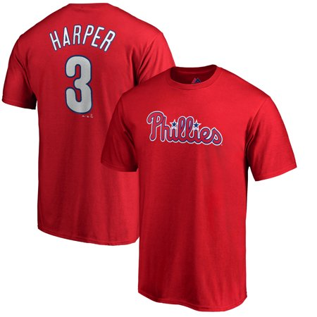 Bryce Harper Philadelphia Phillies Majestic Youth Player Name & Number T-Shirt - Red