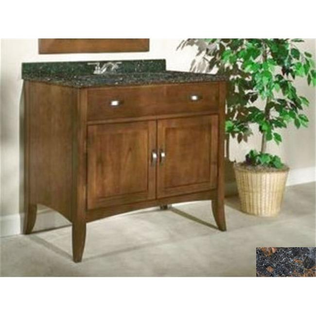 Kaco International 385-3000-TB Metro 30 inch Vanity with a Brown Cherry Krylon Finish and Tan Brown Granite Top