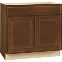 Hampton Bay 2478136 Hampton Assembled 36X34.5X24 In. Sink Base Kitchen Cabinet In Cognac