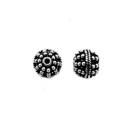 Silver Overlay Bali Bead - Bali Bead Drop