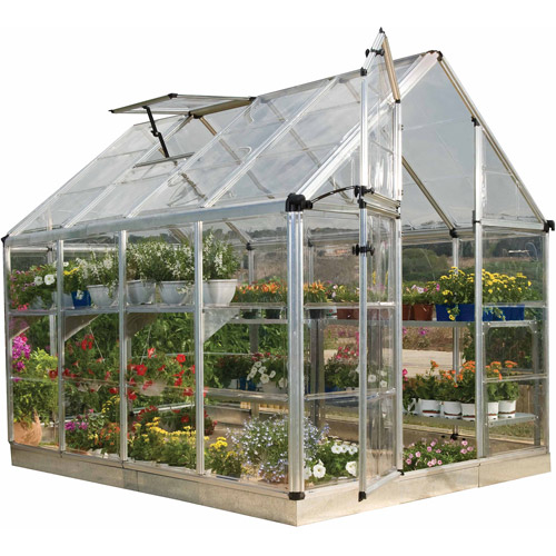 Palram Snap & Grow 4' Extension Kit for 6'-Wide Hobby Greenhouse, Silver by Palram