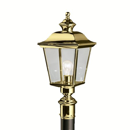 Outdoor Post 1 Light With Polished Brass Finish Medium Base Bulb 10 inch 100