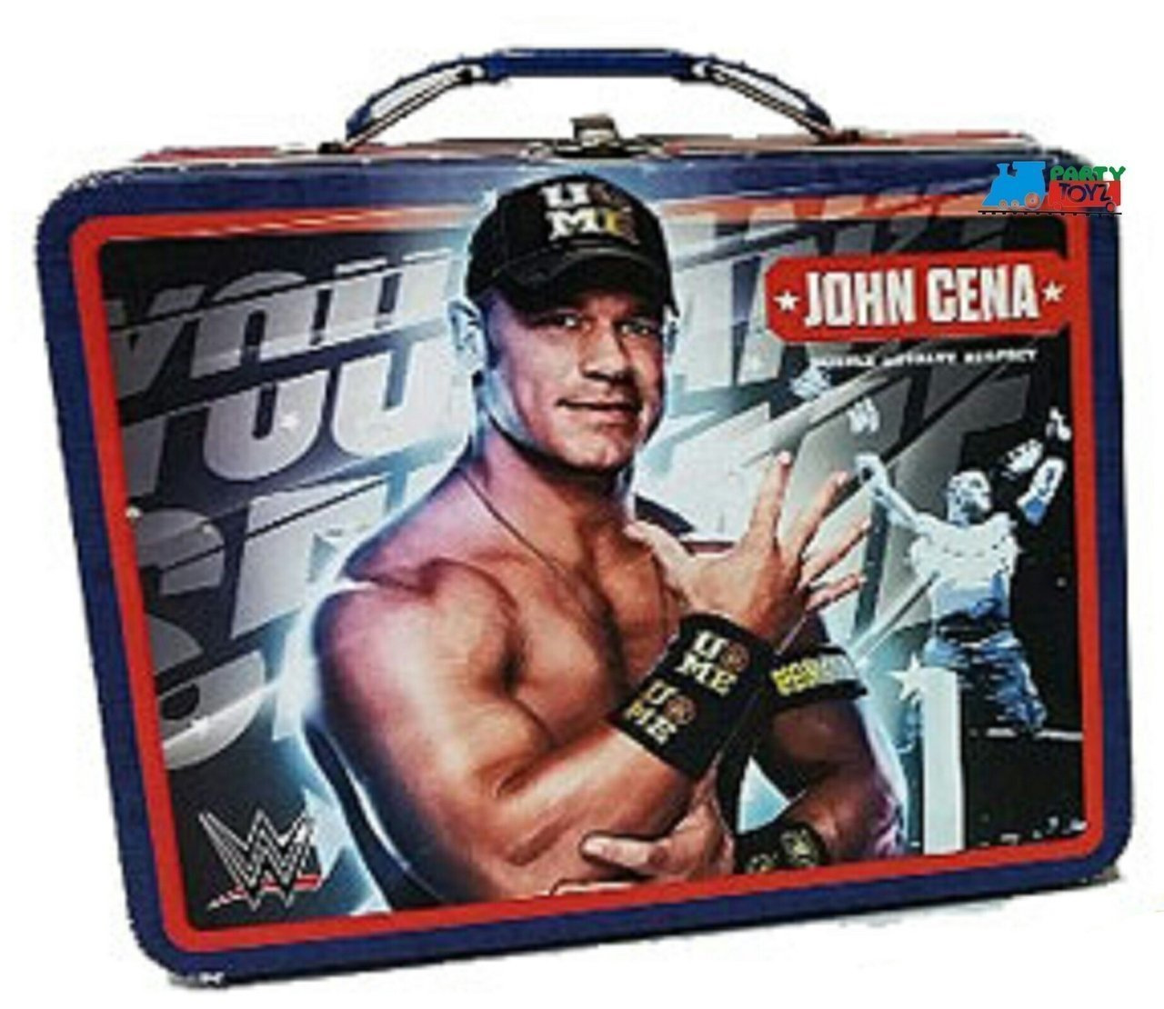 "WWE Hulk Hogan Square Carry All Tin Lunch Stationery Box /""Hulkamania/"""