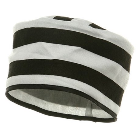 Black And White Prisoner Costume (Rubie's Prisoner Striped Costume)
