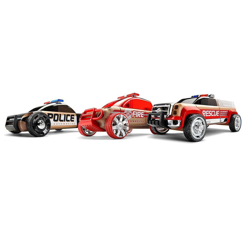 Automoblox Mini S9 Police X9 Fire SUV T900 Rescue, 3-Pack by Automoblox