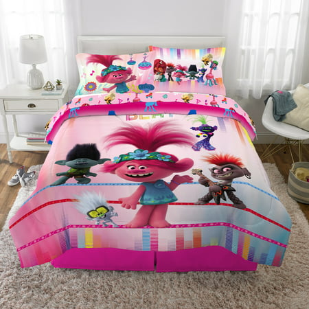 Trolls World Tour Bed In A Bag Bundle Set Kids Bedding