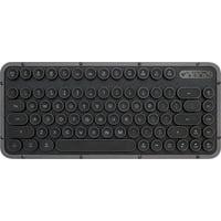 AZIO - Retro Compact Bluetooth Mechanical Keyboard with Back Lighting - Black Leather/Gunmetal Matte