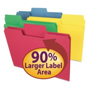Smead 1/3 Cut Assorted Positions SuperTab File Folders, Letter, Assorted Bright Colors, 100ct.