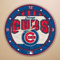 Chicago Cubs Art-Glass Wall Clock - No Size