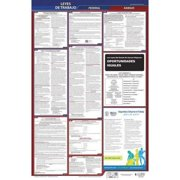 JJ KELLER 400-KS-5 Labor Law Poster,Fed/STA,KS,SP,26inH,5yr
