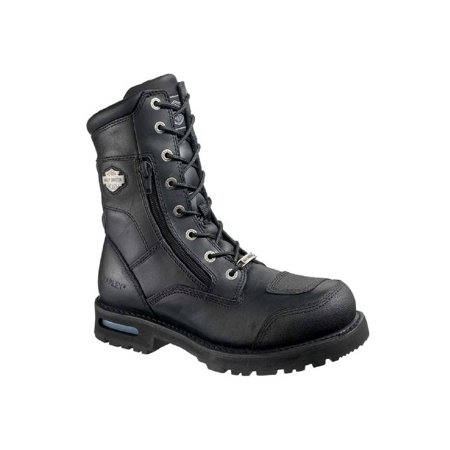 Black Logger Motorcycle Boots (Harley-Davidson Men's Riddick 8-Inch Lace-UP Black Motorcycle Boots D98308, Harley)