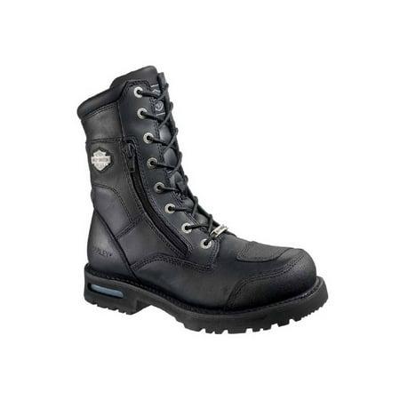 Harley-Davidson Men's Riddick 8-Inch Lace-UP Black Motorcycle Boots D98308, Harley Davidson ()