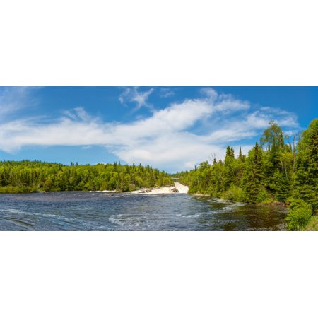- Waterfall on Aguasabon River at Terrace Bay Beach on the North Shore of Lake Superior Ontario Canada Poster Print
