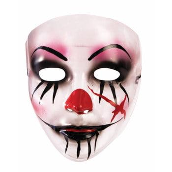 MASK-TRANSPARENT-CREEPY CLOWN - Creepy Clown Mask