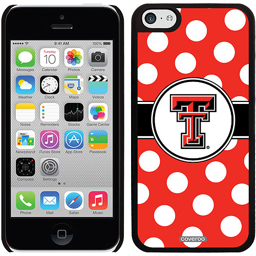 Texas Tech Polka Dots Design on iPhone 5c Thinshield Snap-On Case by Coveroo