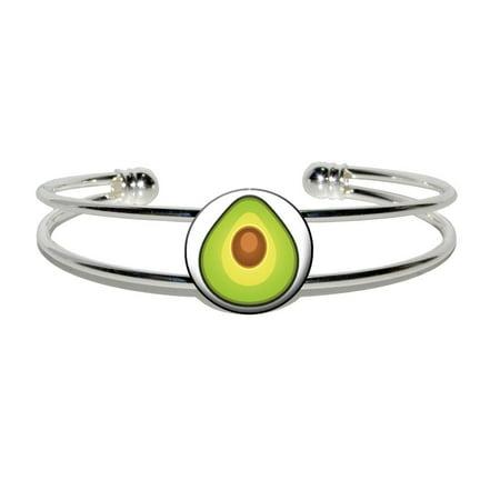 Avocado Silver Plated Metal Cuff Bracelet