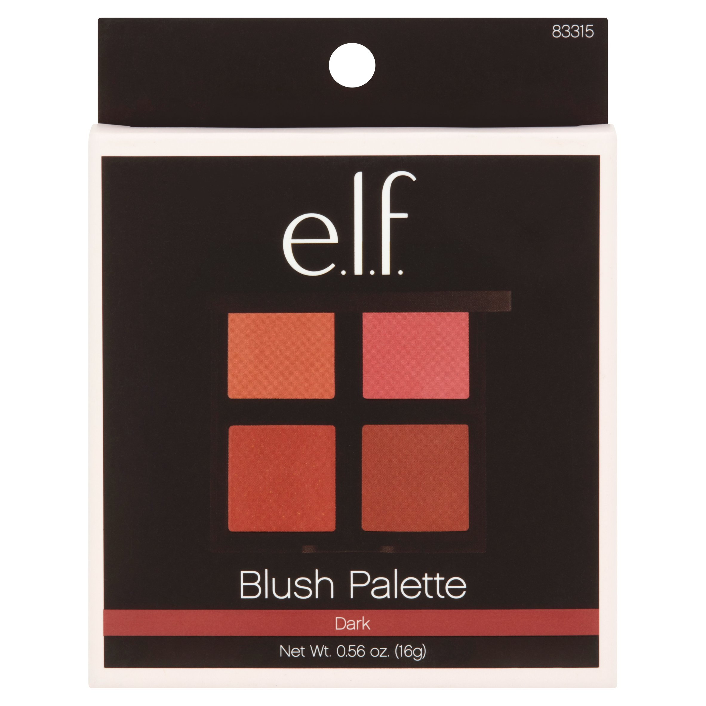 e.l.f. Blush Palette, Dark, 0.14 oz