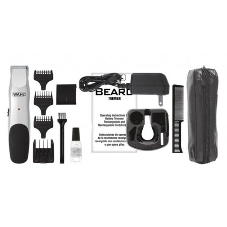 Wahl Cordless Beard and Mustache Trimmer with Acculock 6-Position Beard Guide and 3 Trimmer Attachment Combs](Mustache And Beard)