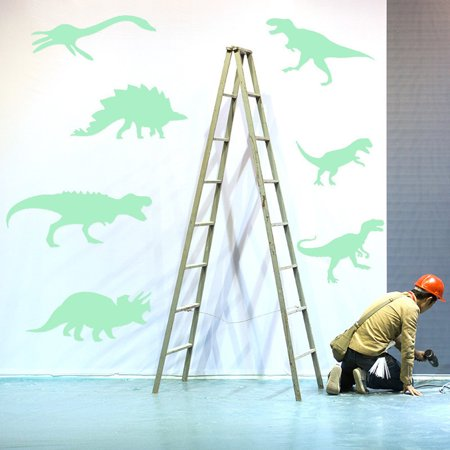 9PCS Luminous Wall Stickers Fluorescent Kids Room New Dinosaur Home Decor - Dinosaur Home Decor