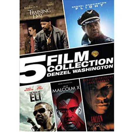 5 Film Collection  Denzel Washington   Training Day   Flight   The Book Of Eli   Malcolm X   Fallen