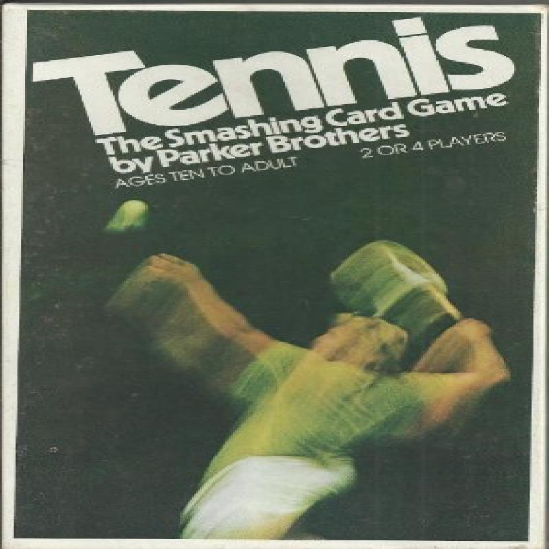 Parker Brothers Tennis The Smashing Card Game 1975 Card Game by
