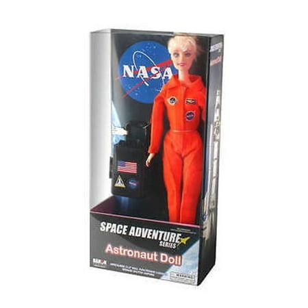Astronaut Doll (female) In Orange Suit (box) Airlines Flight Attendant Doll