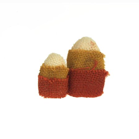 Halloween Burlap Candy Corn, 3-Inch, 2-Piece](Halloween Desserts Candy Corn)