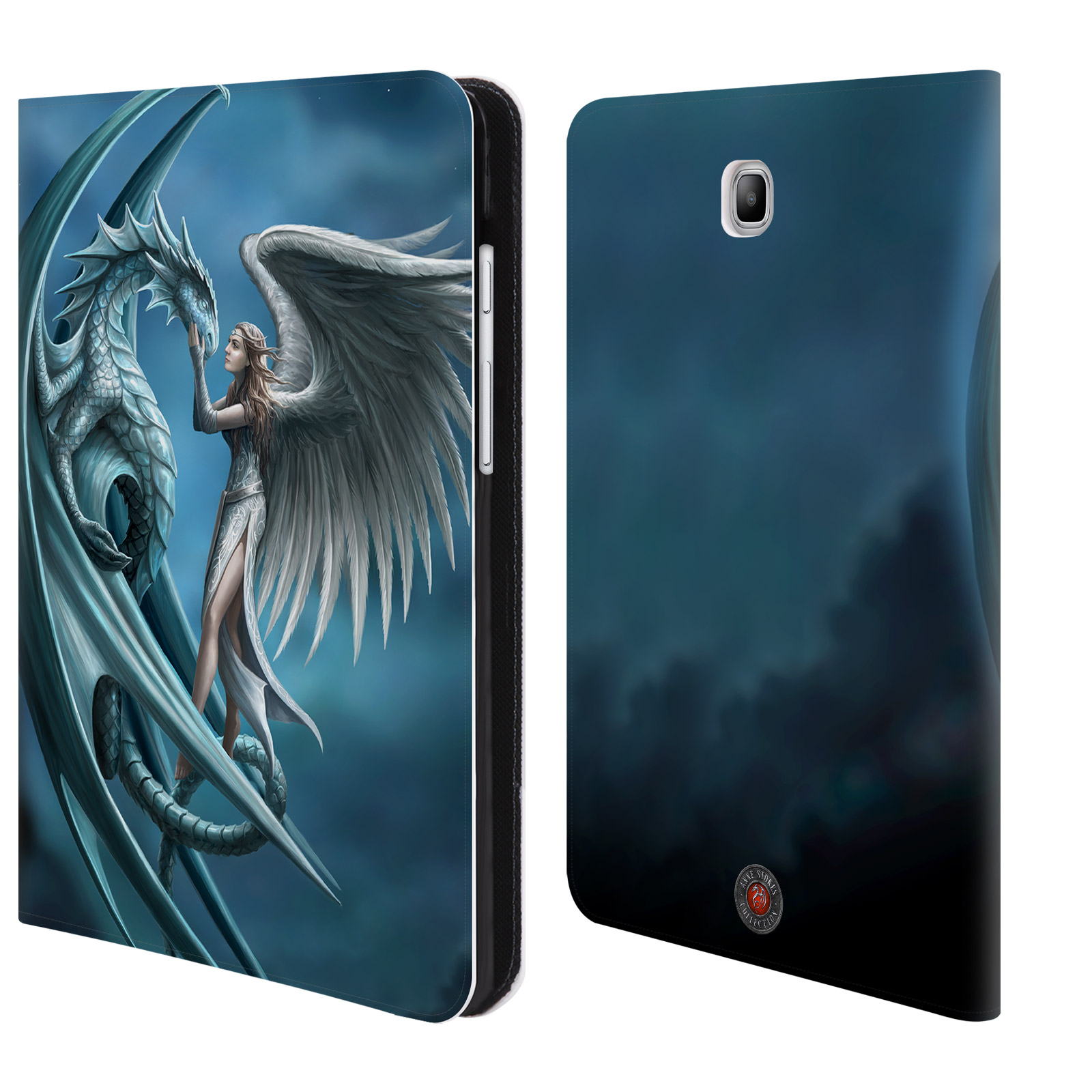 OFFICIAL ANNE STOKES DRAGON FRIENDSHIP LEATHER BOOK WALLET CASE COVER FOR SAMSUNG GALAXY TABLETS