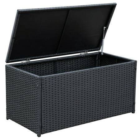 Sundale Outdoor Deluxe Wicker Deck Storage Box All Weather