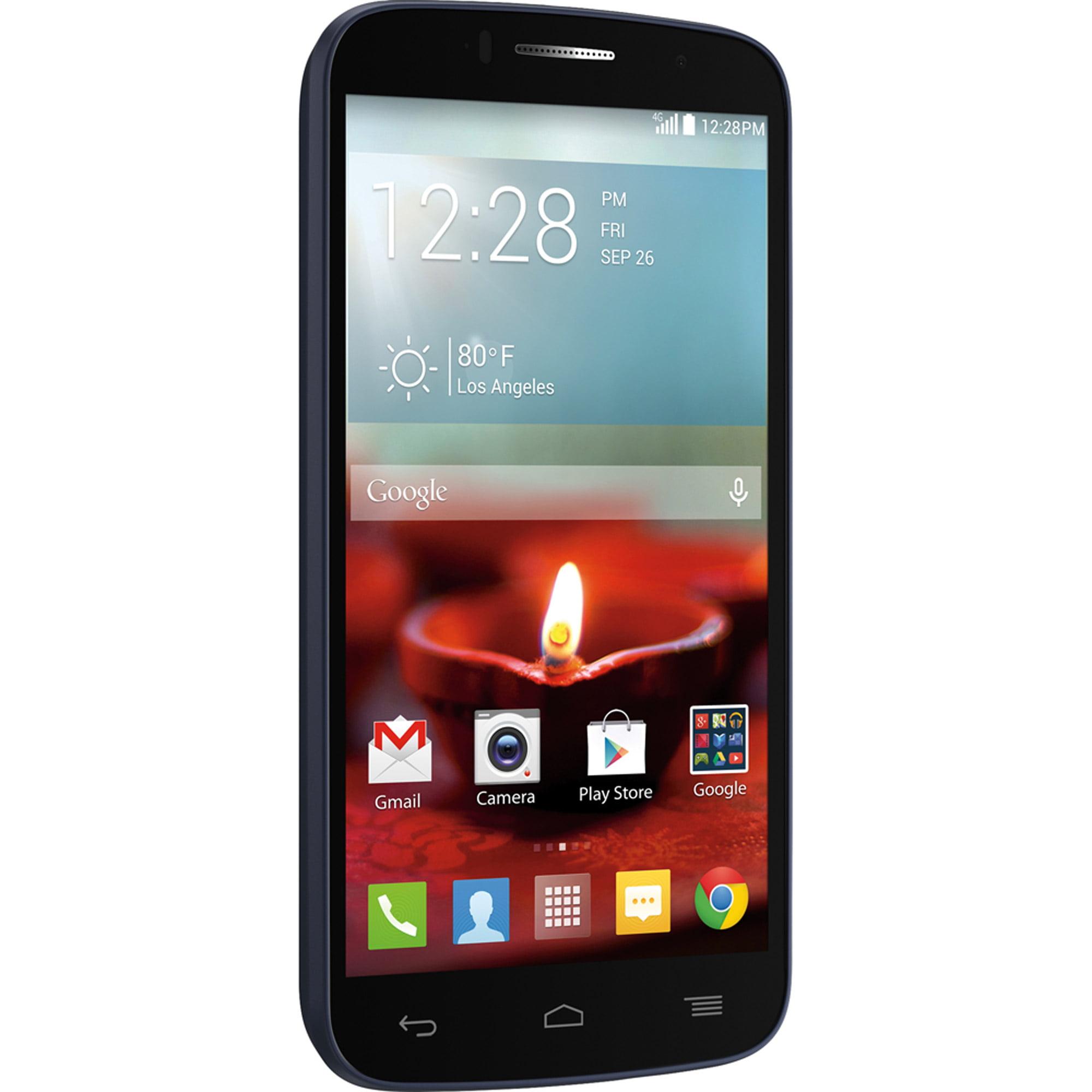 Walmart Family Mobile Alcatel Fierce 2 Smartphone, Navy