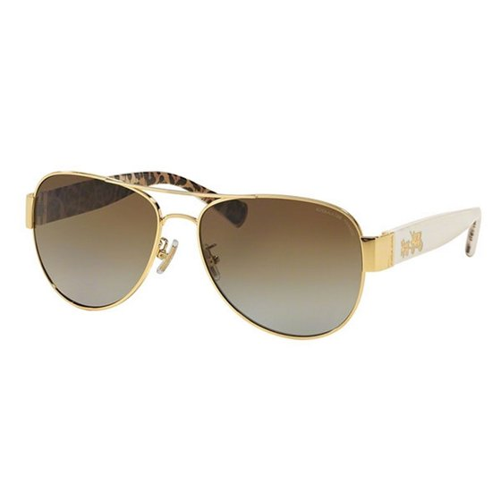 1470ffee4d Coach - COACH Sunglasses HC7059 9249T5 Gold Ivory Wild Beast 58MM ...