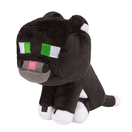 Minecraft Tuxedo Cat Plush - Stampy Cat Minecraft Halloween