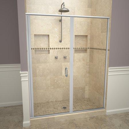 Tile Redi 12Rclp05976 Redi Swing 76-1/8u0022 High X 59u0022 Wide Hinged Framed Shower Do