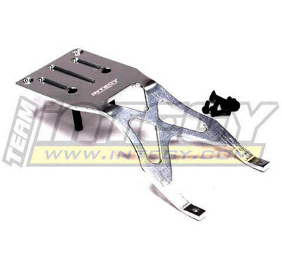 Integy RC Toy Model Hop-ups T8039SILVER Type II Front Mid Skid Plate for Traxxas 1 10... by Integy