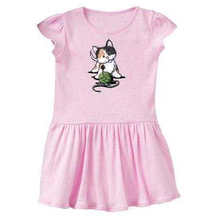 Calico Kitten For Darks Toddler Dress - KiniArt