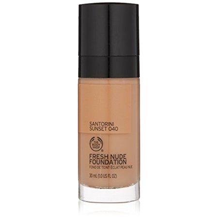 The Body Shop Fresh Nude Foundation, Shade 40 Santorini Sunset, 1 Fluid  Ounce