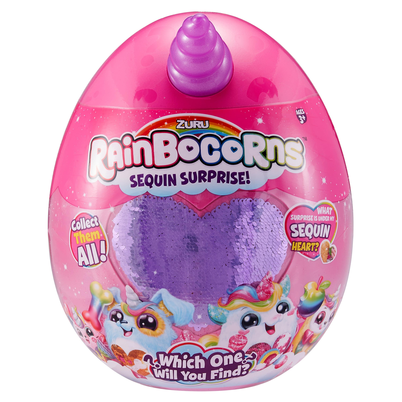 Rainbocorns Sequin Surprise Bunnycorn Plush in Giant Mystery Egg by