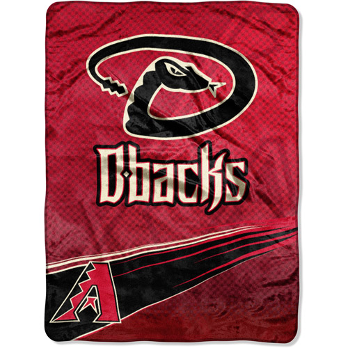 "MLB Speed 60"" x 80"" Royal Plush Raschel Throw, Diamondbacks"