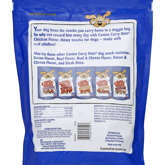Canine Carry Outs Chicken Flavors Dry Dog Treats 50 Oz Walmart