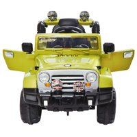 Veryke 12V Electric Cars for Kids, Children Ride-On Toys Truck Car with Remote Control, 2 Speeds, MP3, LED Lights, Gift for Children(Green)