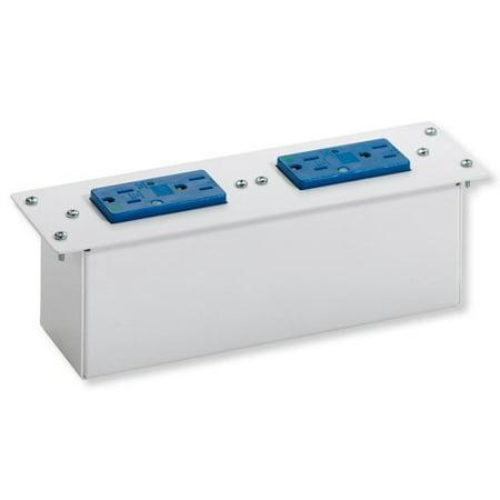- Leviton 47605-DP Double Duplex AC Power Module with Surge Protection White