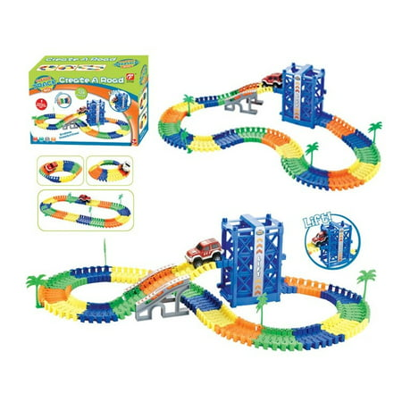 Magic track car flexible with lift create your own track 120 pcs (Camoplast Utility Tracks)