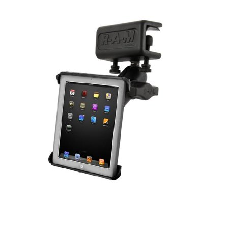 HEAVY DUTY GLARE SHIELD CLAMP MOUNT WITH CLAMPING CRADLE FOR APPLE IPAD 1 2 3 & 4