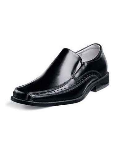 Stacy Adams DANTON Youth Boys Black Slip On Comfort Dress Shoes (4) by Stacy Adams