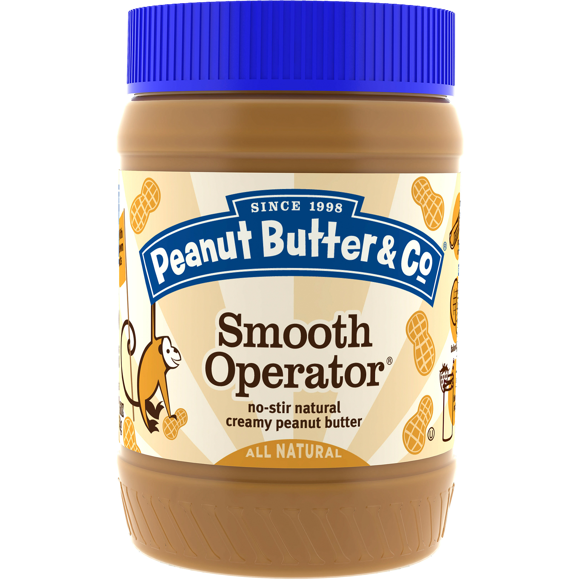 Peanut Butter & Co. Smooth Operator Peanut Butter, 16 oz  (Pack of 6)