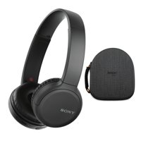 Sony WH-CH510 Wireless On-Ear Headphones (Black) with Hardshell Case Bundle