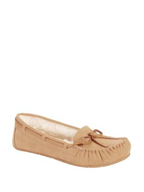 Calistoga Women's Vegan Suede Faux Fur Moccasin